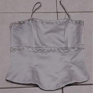 vintage Alexia Designs dove gray bustier size 10